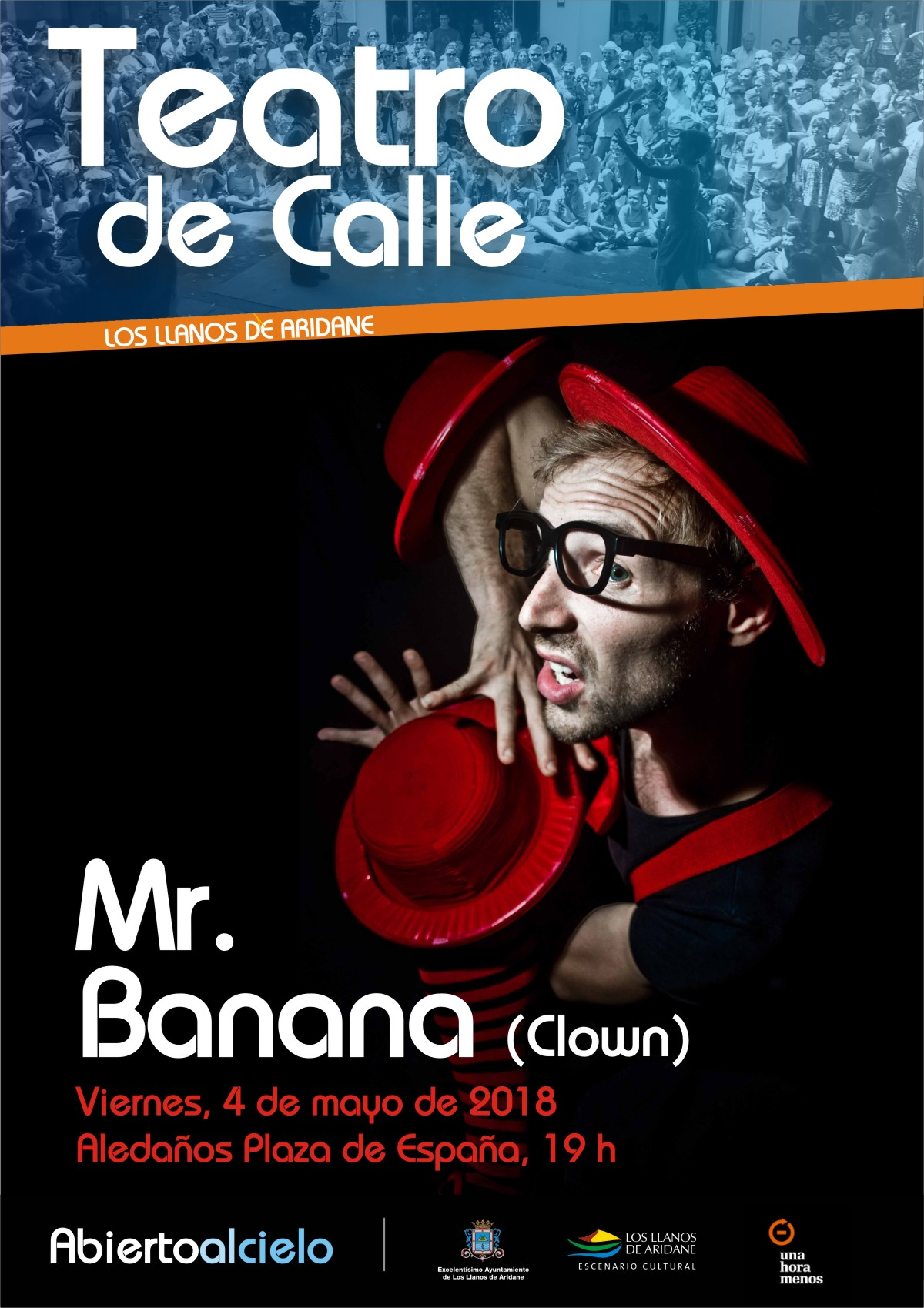 Teatro de Calle. Mr. Banana (Clown)