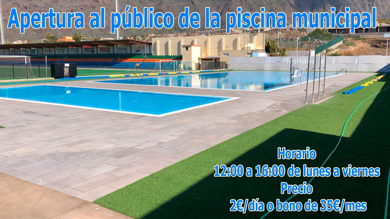 Apertura al público de la piscina municipal
